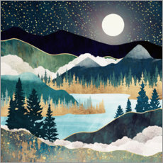 Acrylglas print  Star Lake Landscape - SpaceFrog Designs