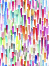 Premium poster Colorful brushstrokes