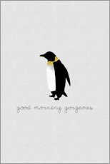 Canvas print  Good Morning Gorgeous - Penguin Set - Orara Studio