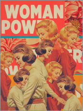 PVC print  Woman Power - Frank Moth