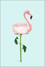 Premium poster Flamingo Rose