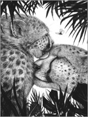 Canvas print  Cheetah love - Valeriya Korenkova