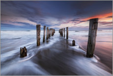 Aluminium print  Dilapidated pier at the sea - The Wandering Soul