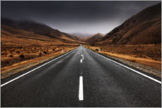 Canvas print  Endless road in the highlands of New Zealand - The Wandering Soul