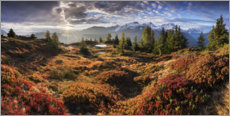 Canvas print  Sunrise on a alpine plateau - The Wandering Soul