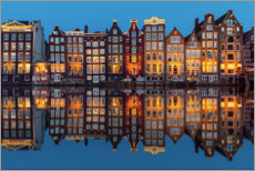 Acrylglas print  Amsterdam row of houses reflected in the water - George Pachantouris