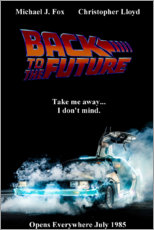 Hout print  Back to the future - Entertainment Collection