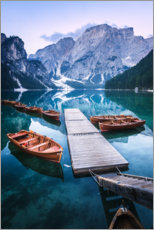 Acrylglas print  Reflection in the Lago di Braies - Matthias Köstler