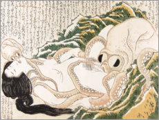 Gallery print  The Dream of the Fisherman's Wife - Katsushika Hokusai