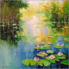 Canvas print  Lily pond - Olha Darchuk