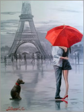 Acrylglas print  Paris for two - Olha Darchuk