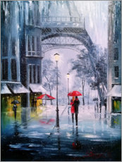 Acrylglas print  The first snow in Paris - Olha Darchuk