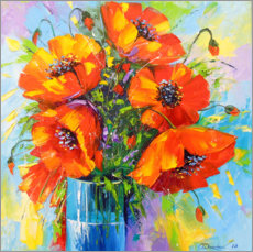 Gallery print  Bouquet of poppies - Olha Darchuk