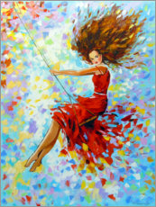 Premium poster  Girl on the swing - Olha Darchuk