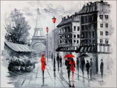 Acrylglas print  The streets of Paris - Olha Darchuk