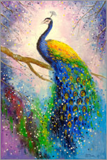 Canvas print  Gorgeous peacock - Olha Darchuk