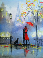 Acrylglas print  Kiss in Paris - Olha Darchuk