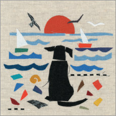 Canvas print  Dog by the sea - Jenny Frean