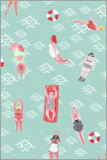 PVC print  Swimming Girls - Merle Schewe