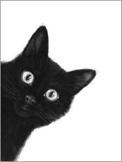 Canvas print  Black cat - Valeriya Korenkova