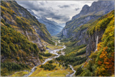 Acrylglas print  Remote valley in the Alps - The Wandering Soul