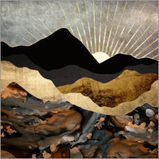 Canvas print  Mountain landscape in copper and gold - SpaceFrog Designs