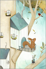 Premium poster  Squirrell in the Tree - Judith Loske