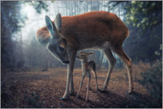Premium poster Mother and fawn