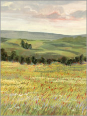Hout print  Morning meadow - Victoria Borges