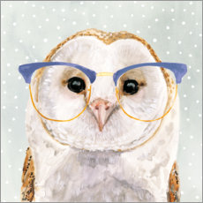 Premium poster Owl with glasses