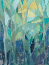 Acrylglas print  Stained Glass Forest I - Grace Popp