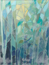 Acrylglas print  Stained Glass Forest II - Grace Popp