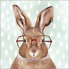 Premium poster Bunny with glasses