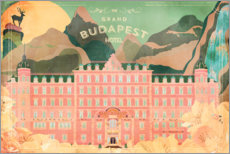 Hout print  The Grand Budapest Hotel - Ella Tjader