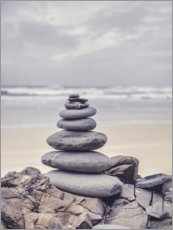 Premium poster Stone tower on the beach