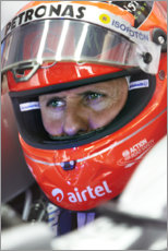 PVC print  Michael Schumacher, Indian Grand Prix, F1 2012