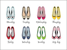 Acrylglas print  Colorful shoe week - Martina illustration
