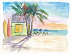 Acrylglas print  Surf bar on the beach in the Caribbean - M. Bleichner