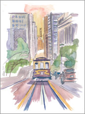 Acrylglas print  Cable car in San Francisco - M. Bleichner