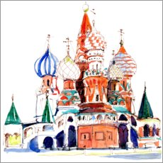 Premium poster St. Basil's Cathedral, Moscow