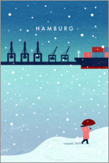 Aluminium print  Hamburg in winter - Katinka Reinke