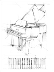 Canvas print  Piano Sketch - Ethan Harper
