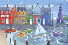 Acrylglas print  Chandler boat house rainbow beach scene - Peter Adderley