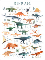 Muursticker  Happy Dinosaur ABC - Victoria Borges