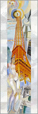 Muursticker  The woman and the tower - Robert Delaunay