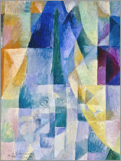 Acrylglas print  Window to the city - Robert Delaunay