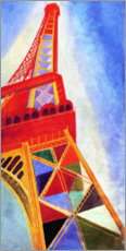 Canvas print  La Tour Eiffel - Robert Delaunay