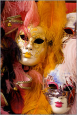 Gallery print  Colorful carnival masks - Bill Bachmann
