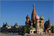 Gallery print  St. Basil's Cathedral in Moscow - Walter Bibikow