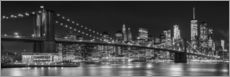 Muursticker  New York City Skyline - Melanie Viola
